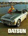 "Datsun 1600 and Datsun 2000 Sports Cars press photo for vintage ad ""Datsun - the winner on street or track"""