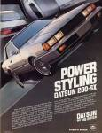 "1980 Datsun 200sx vintage ad ""Power - Styling"""