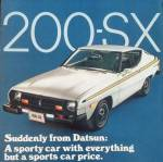 "Datsun 200sx vintage ad ""Suddenly from Datsun: A sporty car with everything but a sports car price."""