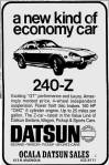 "1970 Datsun 240z vintage ad ""A new kind of economy car. 240-Z"""