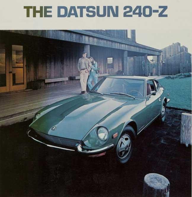 1971 Datsun 240-Z vintage ad press photo