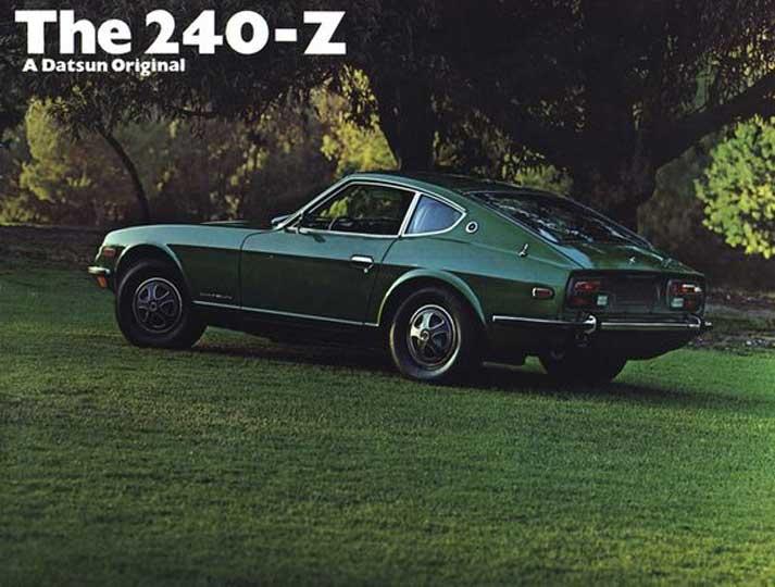 "Datsun 240z classic press photo vintage ad ""A Datsun Original."""