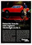 """1975 Datsun 610 old ad """"Datsun 610. From the same engineers who brought you the Z."""""""