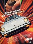 "Datsun 280zx vintage ad ""Shift into awesome. New 5-speed Datsun Turbo-ZX"""