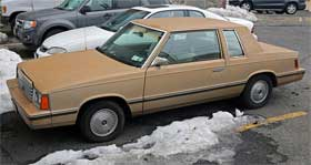 dodge aries plymouth reliant k car ugly car