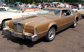 The ugly but legendary Lincoln Continental Mark IV is as wide as a Lamborghini Aventador
