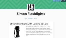 Simon flashlights tumblr post, which includes a fake review, a link to a fake video review, and a link to the Simon website.